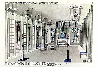 Interior architecture - Charles Rennie Mackintosh - Music Room 1901