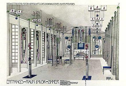 Charles Rennie Mackintosh – Music Room 1901