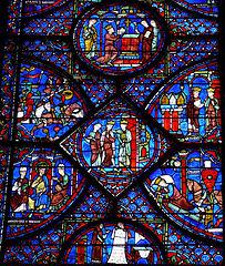 Détail de la baie n°7, l'histoire de Charlemagne / CC BY-SA 3.0 Mossot via Wikimedia Commons