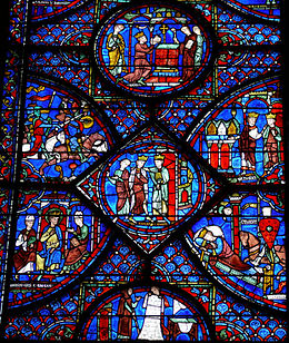 que represente les vitraux de notre dame de paris