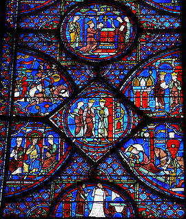 Stained glass windows of Chartres Cathedral