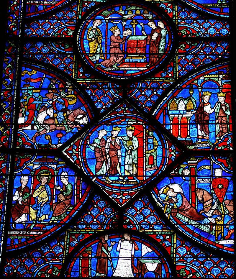 Chartres - Vie de Charlemagne.JPG