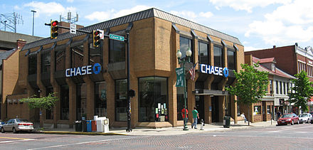 Chase branch located in Athens, Ohio Chase Bank Athens OH USA.JPG