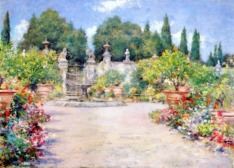 File:Chase William Merritt An Italian Garden 1909.jpg