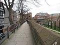 Chester city wall beside Roman Garden and Park Street.jpg