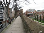 Chester city wall beside Roman Garden and Park Street.jpg