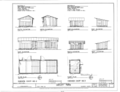 Chicken Coop No. 2 and No. 3 - Elevations and Floor Plans - Dudley Farm, Farmhouse and Outbuildings, 18730 West Newberry Road, Newberry, Alachua County, FL HABS FL-565 (sheet 10 of 22).png