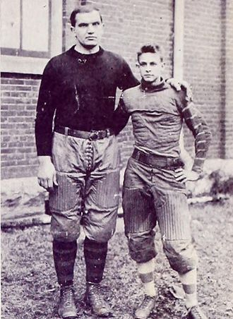 1910 College Football All-Southern Team - Michigan's Germany Schulz next to Chigger Browne.