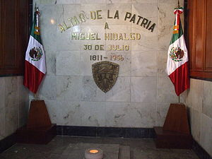 Government Palace of Chihuahua - The Altar of the Fatherland; The spot where Fr Hidalgo was executed by the Spanish.