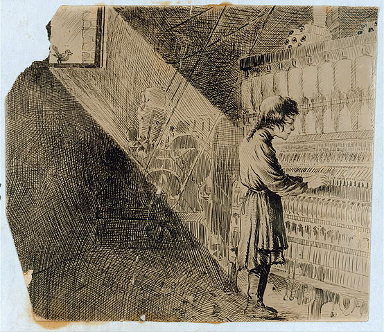 Child Labor Cartoon, estimated to be from 1913