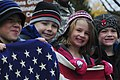 Children hold a U.S. flag during the Veterans Day Parade at the Joint Multinational Readiness Center in Hohenfels, Germany, Nov. 8, 2012 121108-A-EL217-003.jpg