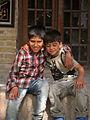 Children in Ribat-i-Abbasi of Nishapur (Hossein - Ali - Fatemeh - Hengameh and another girl - probably Afghani) 26.jpg