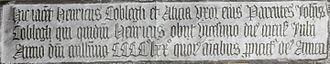 Brightley, Chittlehampton - Monumental brass of Henry Coblegh (died 1470), Chittlehampton Church