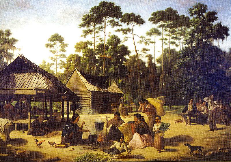File:Choctaw Village by Francois Bernard.jpg