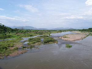 Water resources management in Honduras - Choluteca River near the city of Choluteca