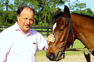 Christophe Clement - Clement in a Paddock at Payson Park, Indiantown, Florida.