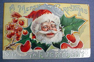Christmas postcard date unknown, circa 1900.