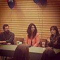 Christopher Paolini, Rachel Hartman and Arwen Elys Dayton at a Utah book signing.jpg