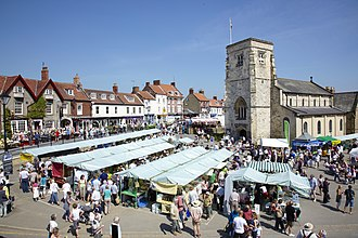 Malton, North Yorkshire - Image: Church Festival