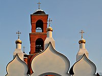 Church of Holy Trinity in Korolyov (fragment of gate and bell tower).jpg
