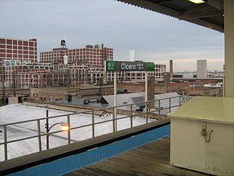 Cicero station (CTA Green Line) - Image: Cicero Green Line