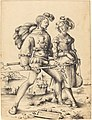 Circle of Urs Graf I, A Soldier Walking with a Camp Follower, 1523, NGA 154287.jpg