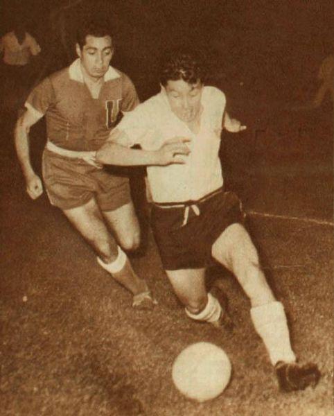 De Universidad de Chile, en el partido final de la temporada de 1959 ...