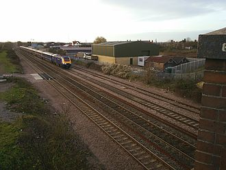 Challow railway station closed with all local services between Swindon and Didcot. Class 43 Challow stn.jpg