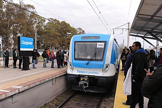 Claypole, Buenos Aires - Current Claypole train station on the Roca Line.