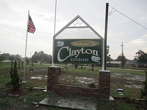 Clayton, Louisiana - Clayton welcome sign