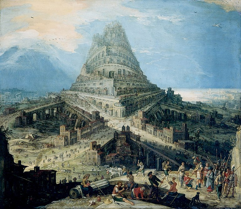 human arrogance and greed in the mythical story of the tower of babel in genesis 111 9 and in the th