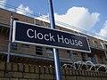 Clock House stn signage.JPG