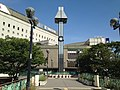 Clock tower in front of east entrance of Nishitetsu-Kurume Station.jpg