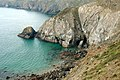 Coast and cliffs west of Dinas Fawr, Pembrokeshire - geograph.org.uk - 1534349.jpg