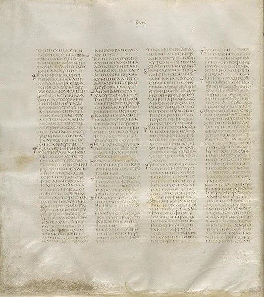 Kol dating codex sinaiticus