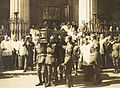 Coffin of Michael Collins being carried from the Pro-Cathedral (15766239474).jpg