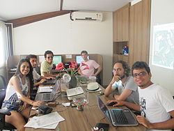 Colaboradores da OpenStreetMap Mapping Party e do Wikiday.JPG