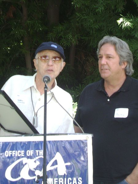File:Cole Miller receives award from Haskell Wexler at annual Office of the Americas event.jpg