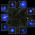 Collage of Hubble and Spitzer Images of Galaxy Cluster MS1054.jpg