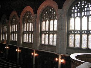 English: windows, Boys Chapel, Stonyhurst