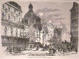 Temple du Marais - Image: Commune de Paris 25 mai combat à Saint Antoine