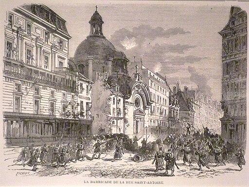 Commune de Paris 25 mai combat à Saint-Antoine