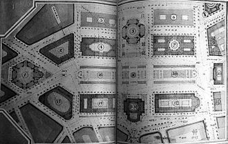 Centenary Square - William Haywood's concept design for the Civic Centre in 1918