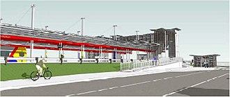 Elizabeth railway station - Image: Concept Image Elizabeth Interchange 2