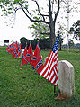 Confederate cemetery with Union tombstone.jpg