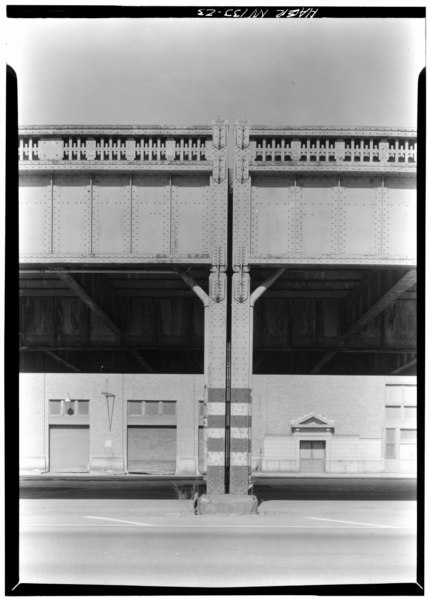 File:Construction detail at Watts St. looking West. - West Side Highway, New York, New York County, NY HAER NY,31-NEYO,88-23.tif