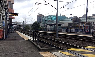 Dulwich Hill Line - The northbound platform at Convention station