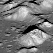 Copernicus's central peaks as observed by the LRO, 2012