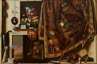 Trompe-l'œil. A Cabinet in the Artist's Studio