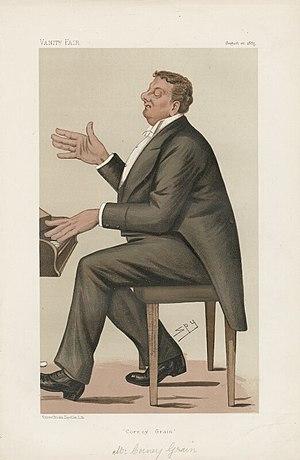 Richard Corney Grain - Richard Corney Grain as depicted by 'Spy' in Vanity Fair in 1885